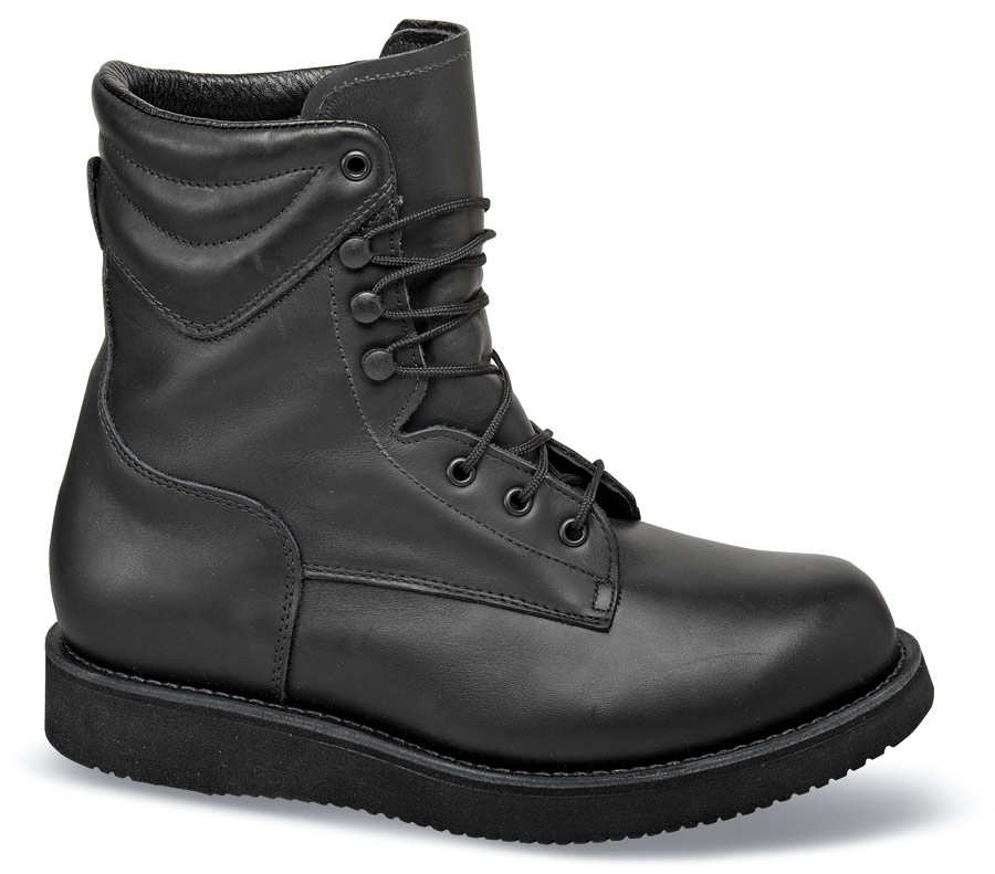 Black Hercules 8 Inch Boot Hitchcock Wide Shoes