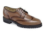 Brown Wing-Tip Lug Sole