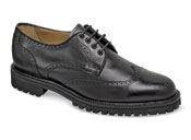 Black Wing-Tip Lug Sole