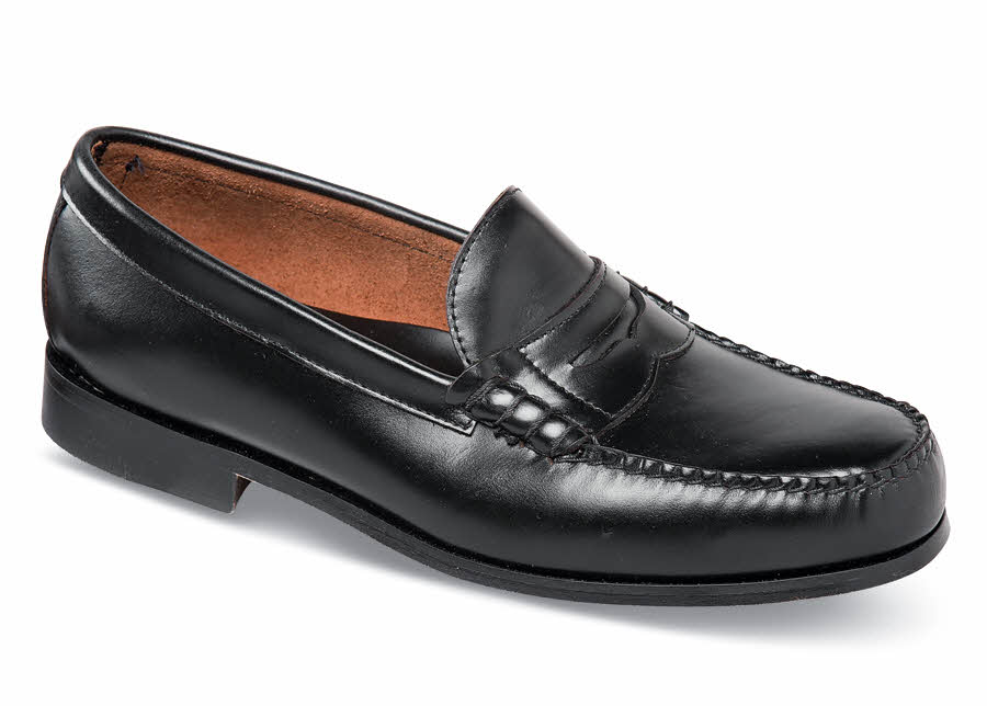 Black Beef Roll Loafer Hitchcock Wide Shoes