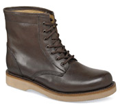 Brown Plain-Toe Casual Boot