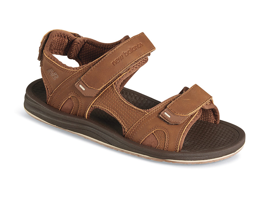 a1889383cae5a5 NEW BALANCE. Brown PureAlign Recharge Sandal