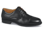 Black Midtown Cap Toe