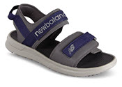 Grey Two Strap Sport Sandal