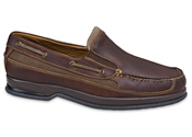 Brown Slip-on Boat Moccasin
