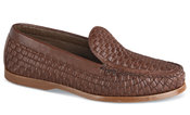 Brown Woven Deck Sole Loafer