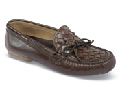 Brown Woven Plug Driving Shoe