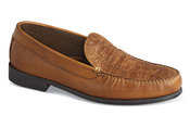 Brown Croco Vamp Loafer
