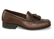 Brown Woven Tassel Loafer