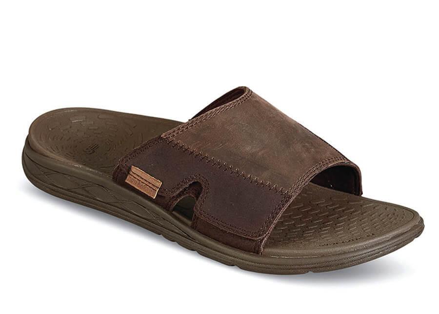 Revitalign Brown Slide Sandal