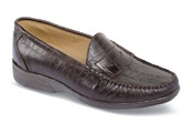 Brown Croco Casual Loafer