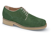 Green Suede XD Plain-Toe Tie
