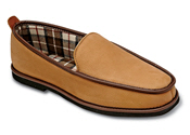 Tan Moosehide Moccasin Slipper