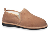Tan Center-Seam Shearling Slipper
