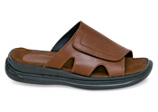 Brown Wide Strap Sandal
