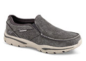 Charcoal Moc Toe Canvas Slip-on