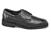 Black Plain-Toe Flex Oxford