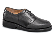 Black 2-Tone Saddle Oxford
