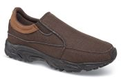 Brown Canvas Sport Slip-on