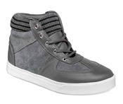 Grey Leather/Suede Hi-Top