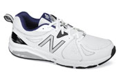 White/navy 857 Training Shoe