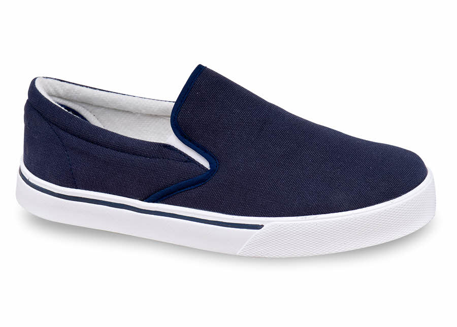 Navy Canvas Slip-on Casual | Hitchcock