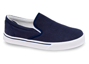 Navy Canvas Slip-on Casual