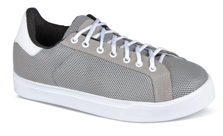 Grey Lace-to-Toe Mesh Sneaker