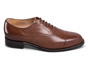 Brown Calfskin Cap-Toe Oxford