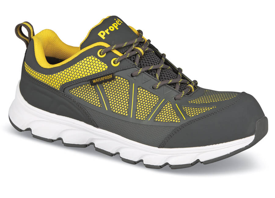 ac1cf5e862 Grey/yellow Safety Oxford | Hitchcock Wide Shoes