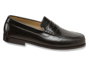 Black Hand-sewn Beefroll Loafer