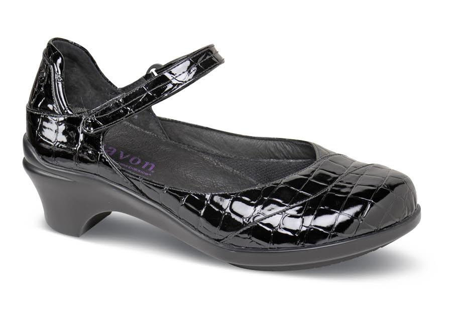 b0fb199494067 Maya Black Croc Mary Jane