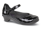 Maya Black Croc Mary Jane
