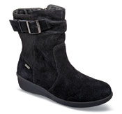 Linda-AR Black Suede Zip Boot