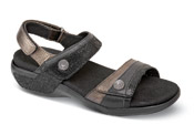 Katherine Black Three-Strap Sandal