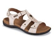 Revsoothe White T-Strap Sandal