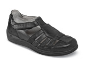 Ginger Black Fisherman Sandal