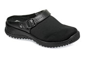 Savannah Black Stretch Clog