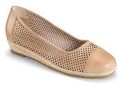 Nadine Natural Perforated Flat