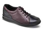 Phoebe Navy Plum Lace-Up