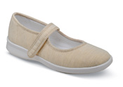 Jura Beige Canvas Mary Jane