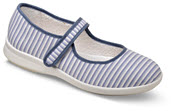 Sadie Navy Stripe Mary Jane