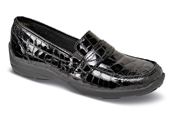 Brisbane Black Croc Loafer