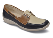 Avalon Navy Tan Sport Loafer