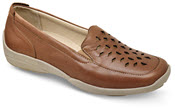 Elsie Tan Cut Out Slip On