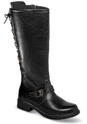 "Canada Black 14"" Laced Zip Boot"