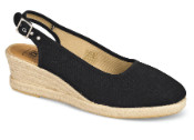 Sarah Black Espadrille Wedge