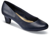 Gail Navy Leather Pump