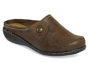 Jamilla Brown Leather Clog