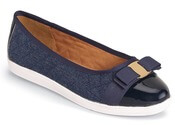Faeth Denim Quilted Ballet Flat